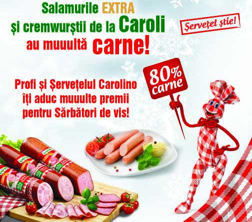 Profi si Servetelul Carolino iti aduc muuulte premii pentru Sarbatori de vis!