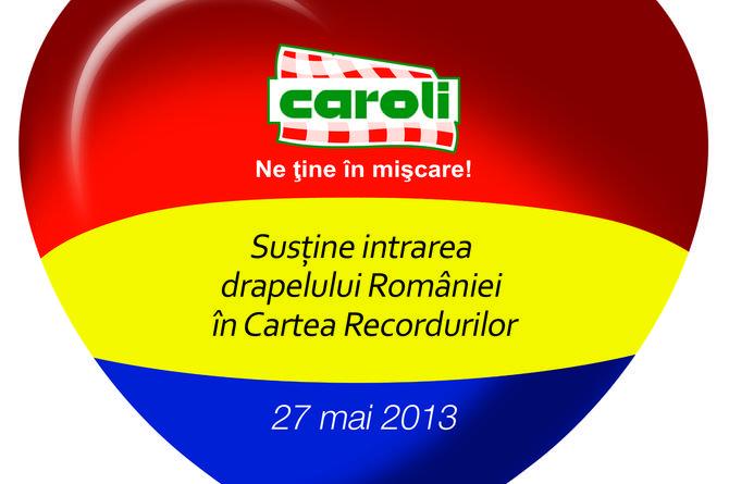 Caroli, brandul românesc autentic al liderului pe piața de mezeluri din România, susține intrarea drapelului României în Guiness World Records