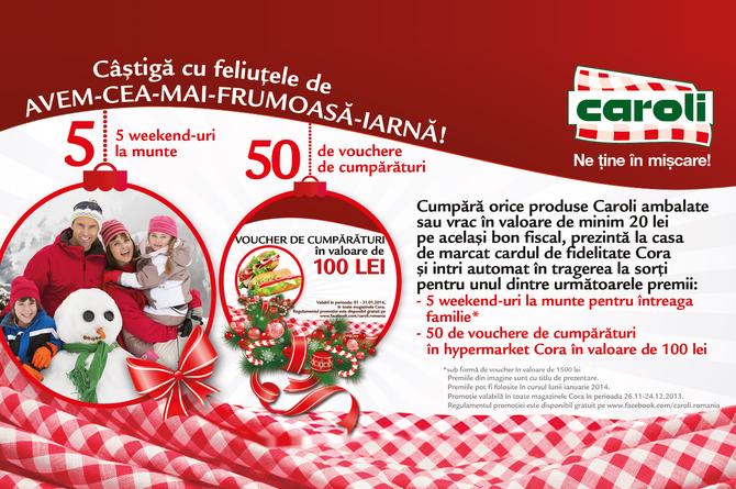 Cu Caroli castigi feliute de CEA- MAI- FRUMOASA- IARNA!