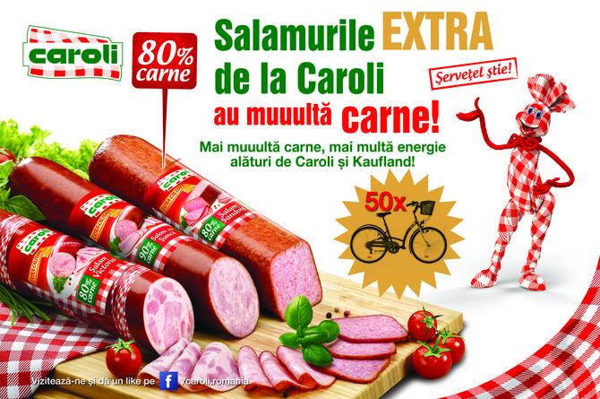 Mai muuulta carne, mai multa energie alaturi de Kaufland si Caroli!