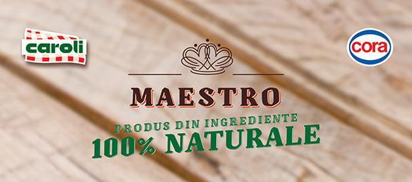 """CAMPANIA PUBLICITARA  """"Petrece toamna asta mai aproape de natura, cu Maestro, cu ingrediente 100% naturale!"""