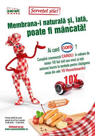 Regulamentul campaniei (Cora) - Cremwurstii EXTRA de la CAROLI au muuuulta carne !