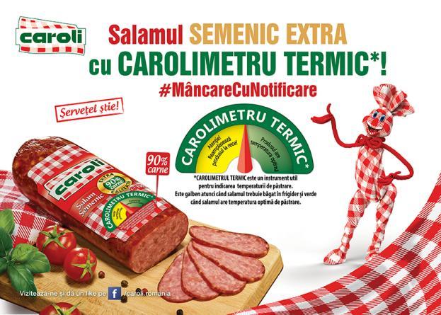 #MâncarecuNotificare - Salamul Semenic Extra are acum CAROLIMETRU TERMIC