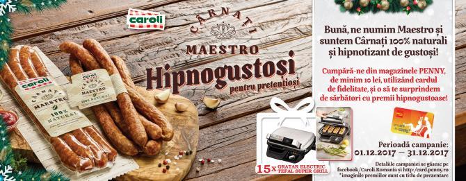CAMPANIA PROMOTIONALA - Carnati Maestro de la CAROLI te surprinde de sarbatori cu premii hipnogustoase!
