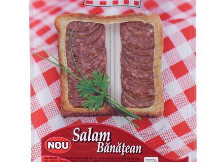 Caroli Banatean Salami, sliced 100g