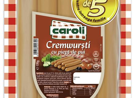 Caroli Chicken Breast Frankfurters, vacuumed 170g